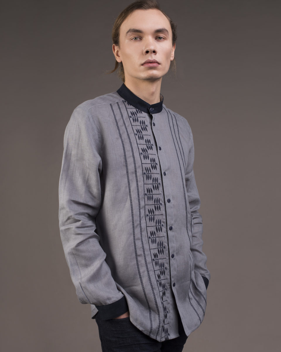 "Men's shirt ""Herbal"" gray"