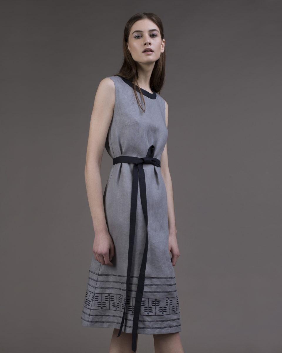 "Dress ""Herbal"" with a belt"