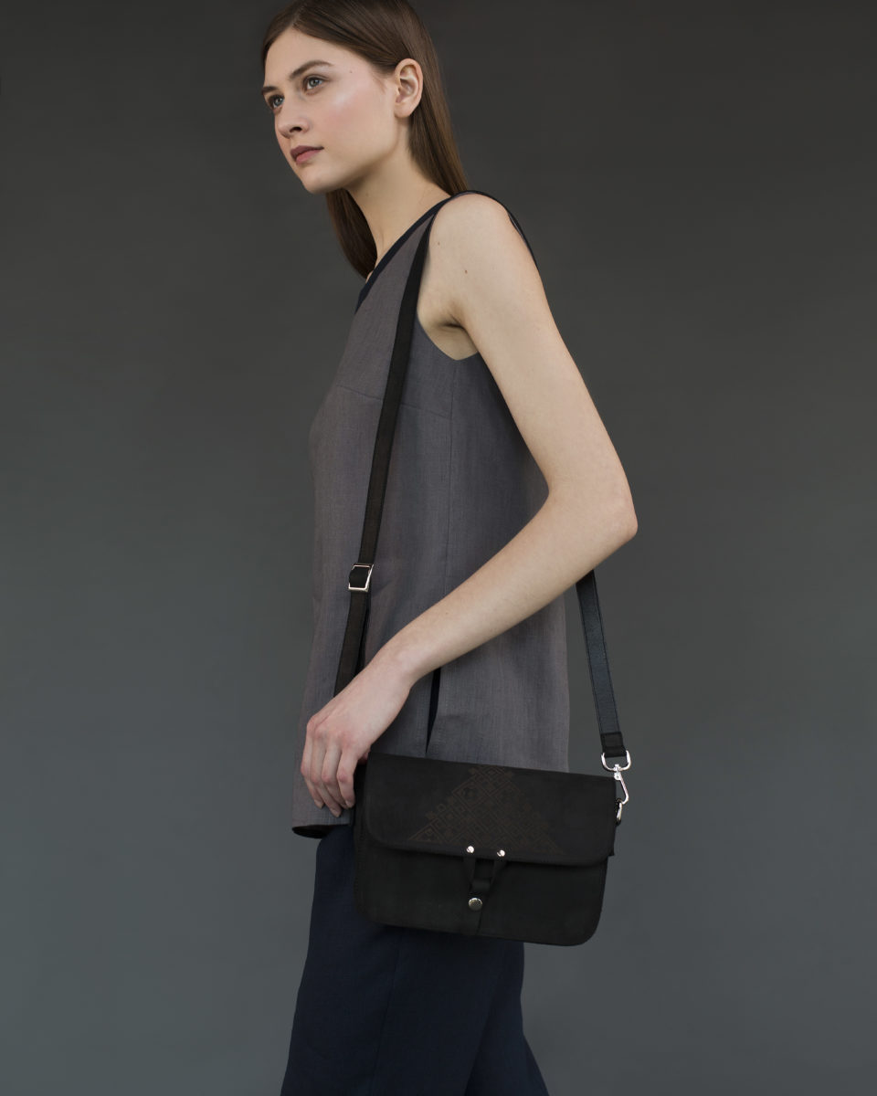 """Geometry"" bag black"