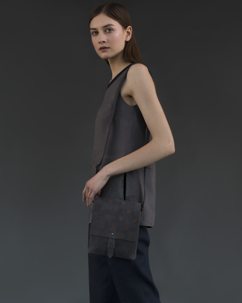 "Bag ""Bloom"" rectangular grey"