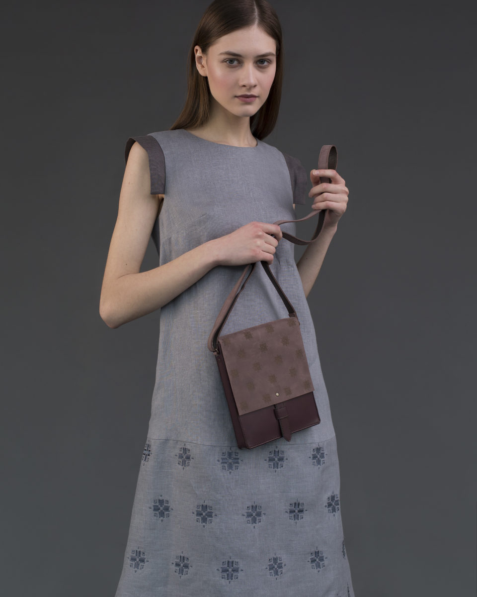 "Bloom"" bag rectangular Marsala"