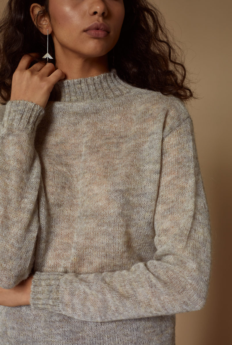 Turtleneck Top gray
