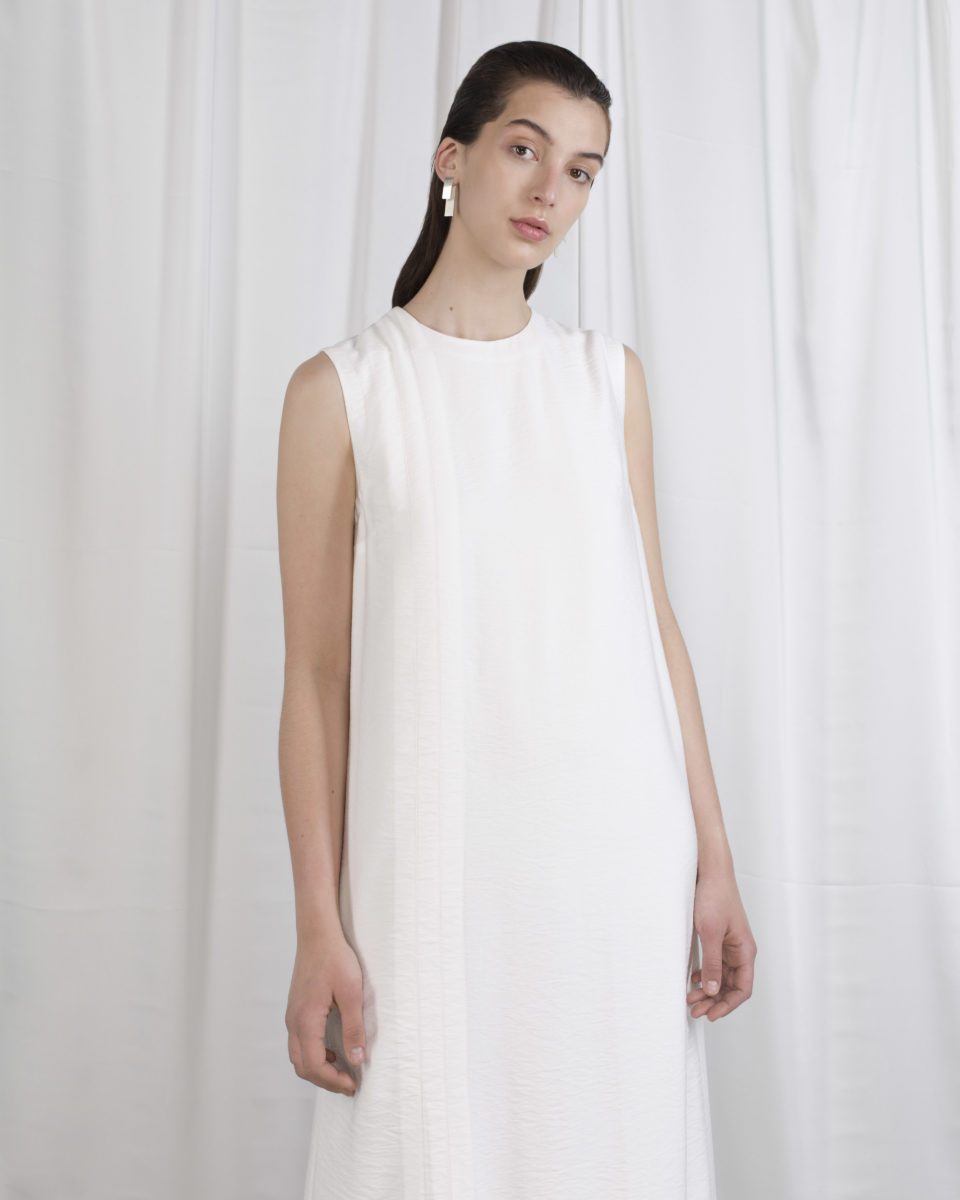 Asymmetrical 7/8 dress