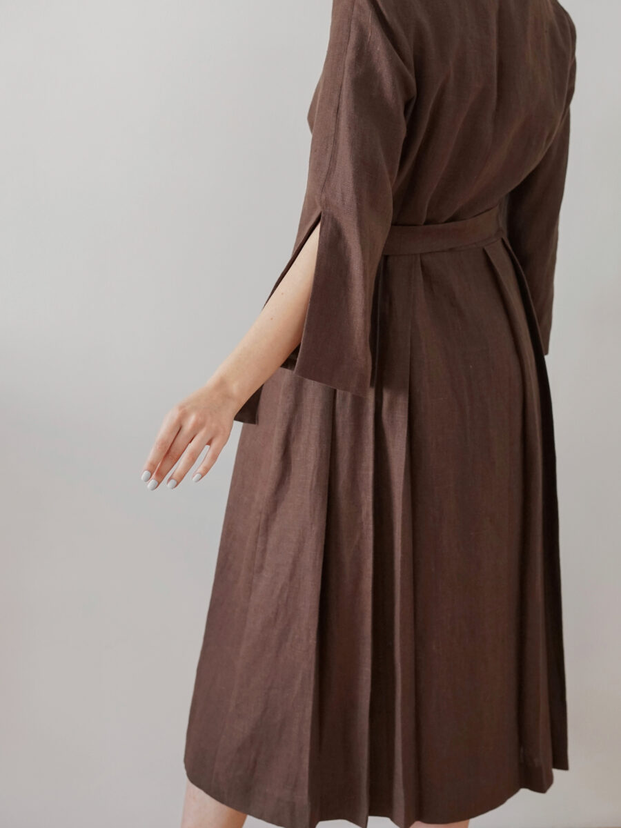Dress - brown trench coat